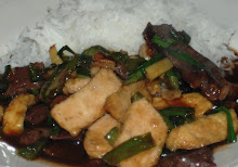 Fried Tofu and Beef  Tenderloin Stir fry