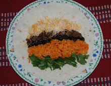 Seasoned Beef,  Black Beans, Mexican Jasmine Rice Burrito
