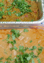 Baigan Bartha and Chicken Korma