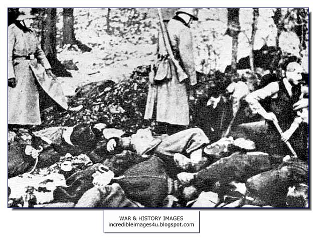 searching bodies massacre 1942