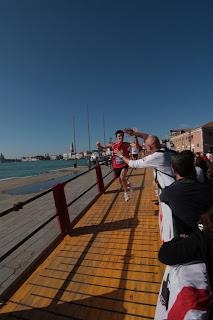 Venice Marathon arrival