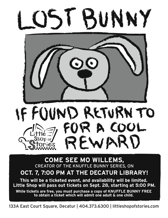 little blog of stories Mo Willems and the Final Knuffle Bunny Tour