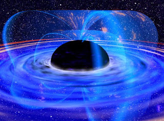 Recreación artística de un agujero negro