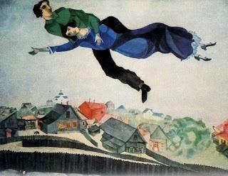 Au dessus de la ville - Marc Chagall