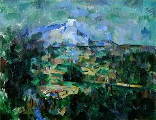 La montaña Sainte Victoire vista desde Lauves - Paul Cézanne