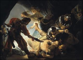Sansón cegado por los filisteos - Rembrandt