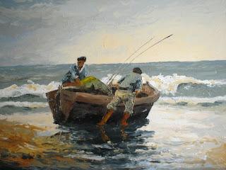 Preparativos de pesca - Carlos Castiglione