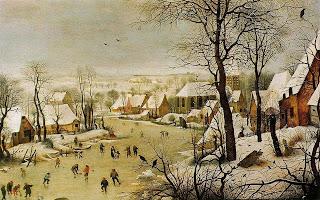 Patinadores - Pieter Brueghel El Viejo