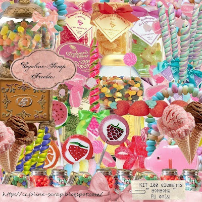 http://cajoline-scrap.blogspot.com/2009/09/freebie-kit-bonbons-100-elements-pu.html