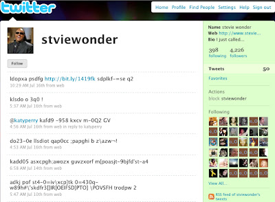 Stvie Wonder on Twitter