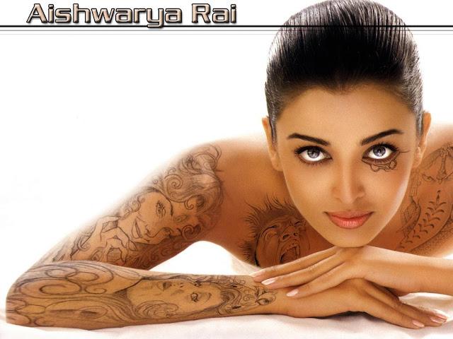 Sexy Tattoo Aishwarya Rai