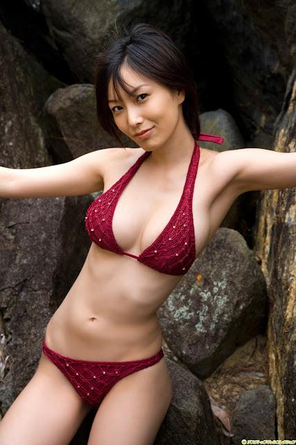 Red Bikini Babe Nao Nagasawa