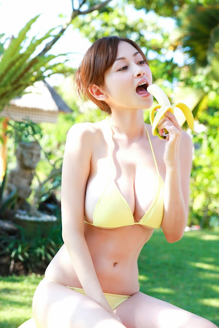 Sexy Japanese Banana Girl
