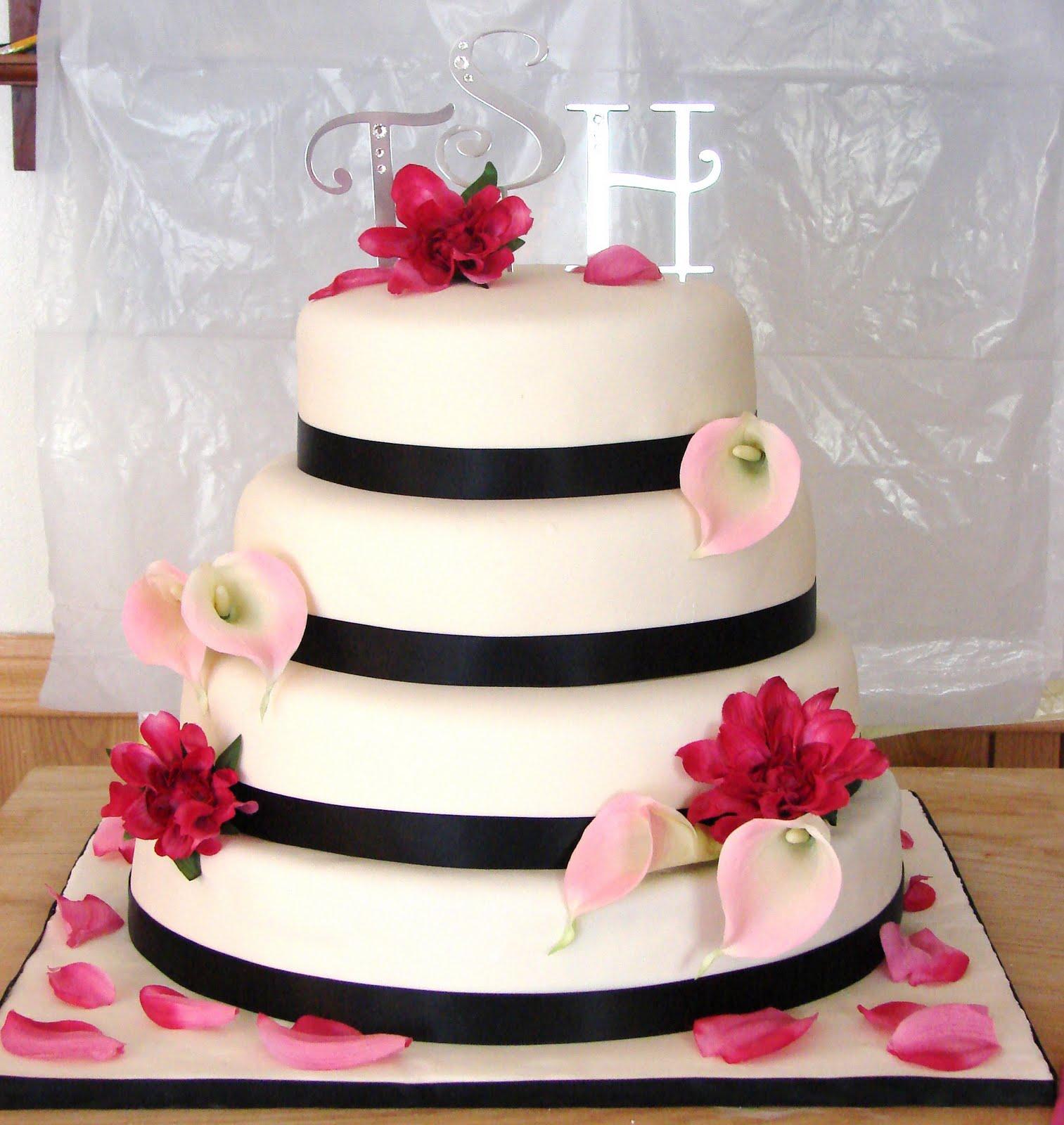 My Cake Hobby: Pink and Black Wedding Cake