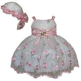 Baby Dress Floral Newborn Dress Christmas