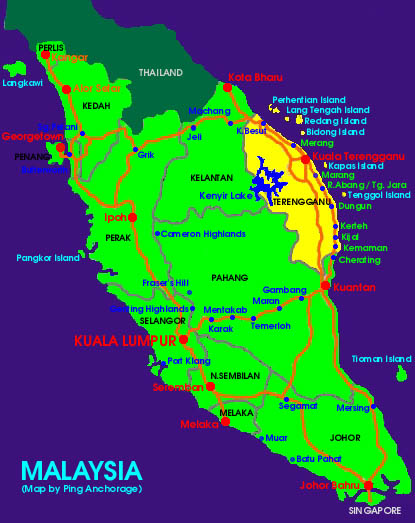 click here to see location of Malaysia in South East Asia
