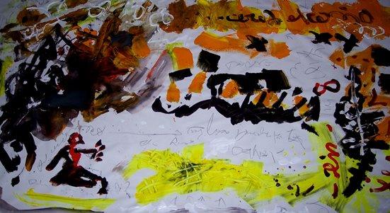 Relatos-bocetos sobre la vida de my maníaco father y el extraño cerebro de my son. Detalle.  2009