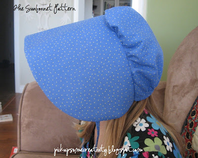 sewing for kids: pioneer sunbonnet tutorial