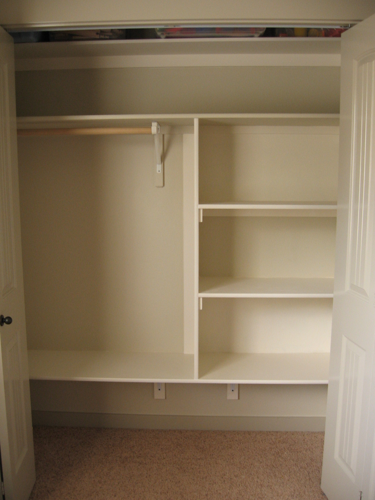 Pickup some creativity the trouble with closets for Closet shelving ideas