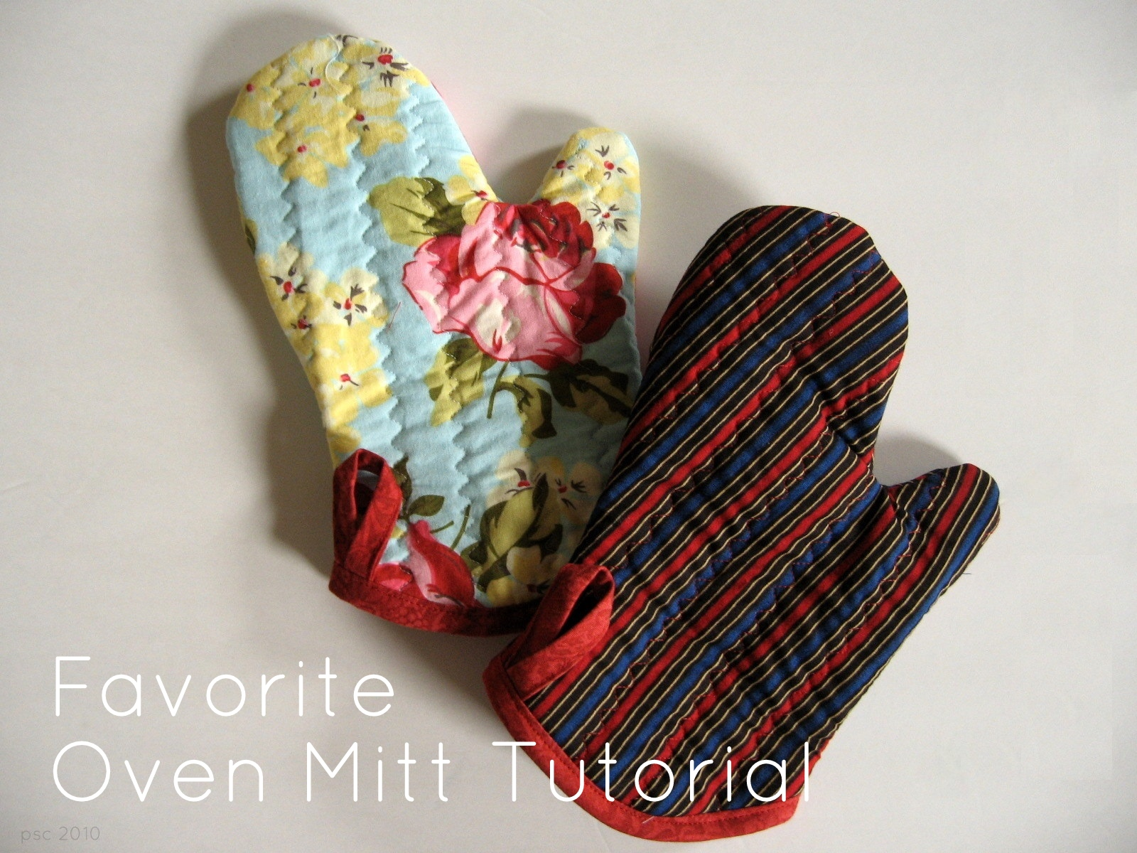 Free Patterns For Quilted Oven Mitts : Pickup Some Creativity: Favorite Oven Mitt Tutorial, with free template.