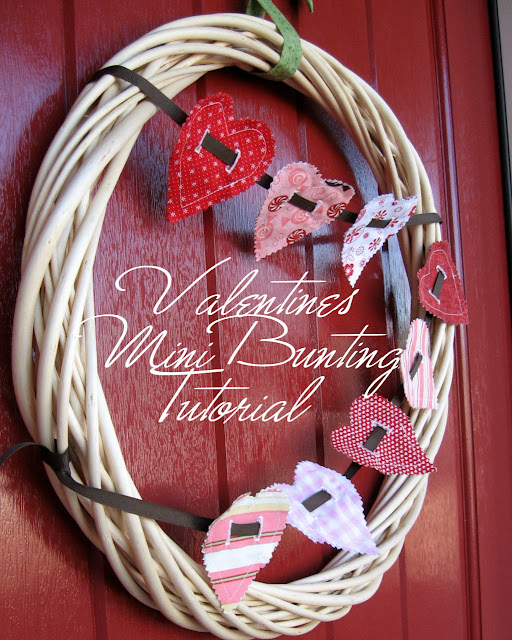 holiday crafts: valentines mini banner
