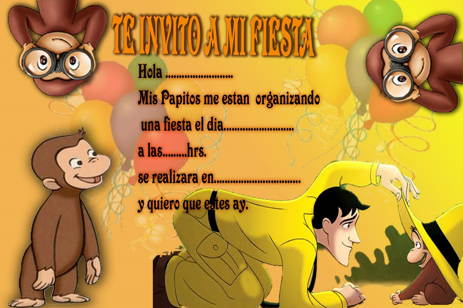 Worksheet. Fiesta Jorge El Curioso  LaCelebracioncom