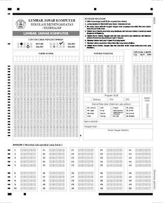 kelas jenis ujian paket soal tanda tangan 60 soal isi item ljk mirip
