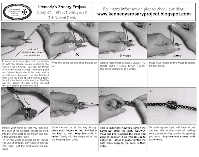 Kennedys Rosary Project Chaplet Instructions Page 3 Tri Barrel Knot