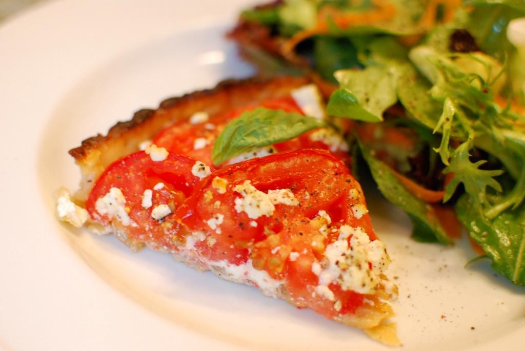 Deep Domestic Thoughts: Tomato, Goat Cheese, and Onion Tart