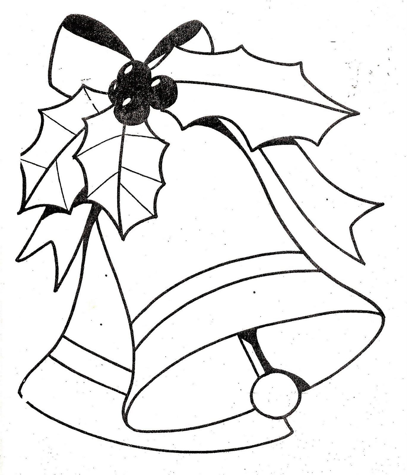 De maestro a maestro campanas navide as para colorear - Figuras navidenas para imprimir ...