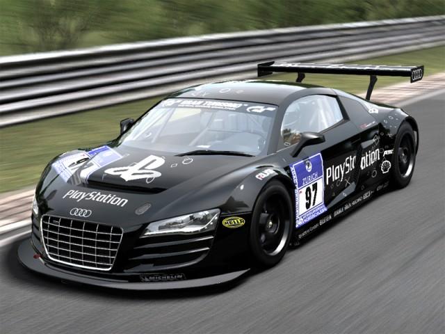 Audi r8 lms race car teamplaystation 2009