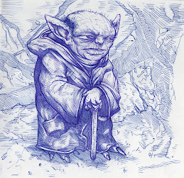 Yoda - ballpoint pen sketch