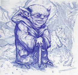 Yoda - ballpoint pen sketch