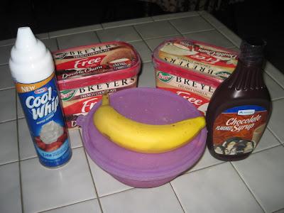 banana ingredient recipe split