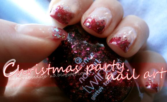Christmas Party Nail Art Tutorial Memorable Days Beauty Blog