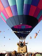 Hot Air Balloon Fiesta (balloon purple just lifting)