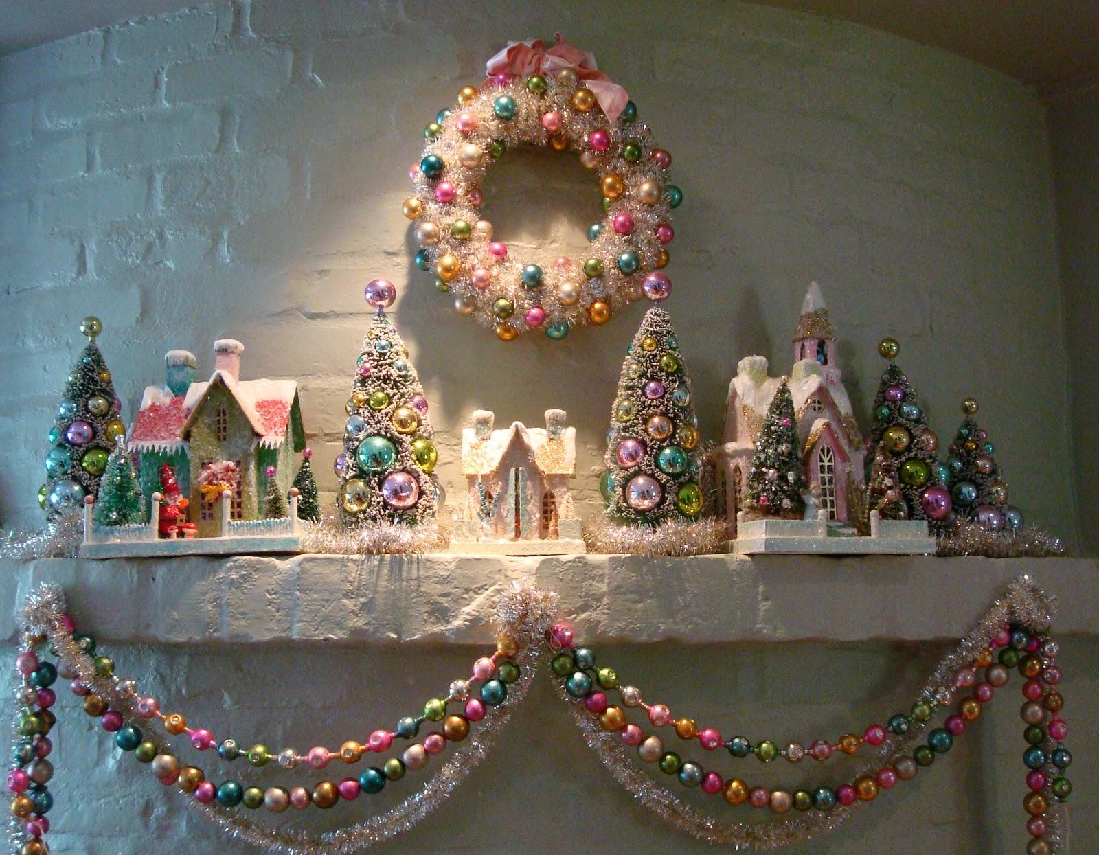 Vintage Christmas Mantel Decorations : Dishy vintage christmas all around the house