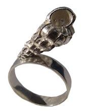 anillo fosil de caracol