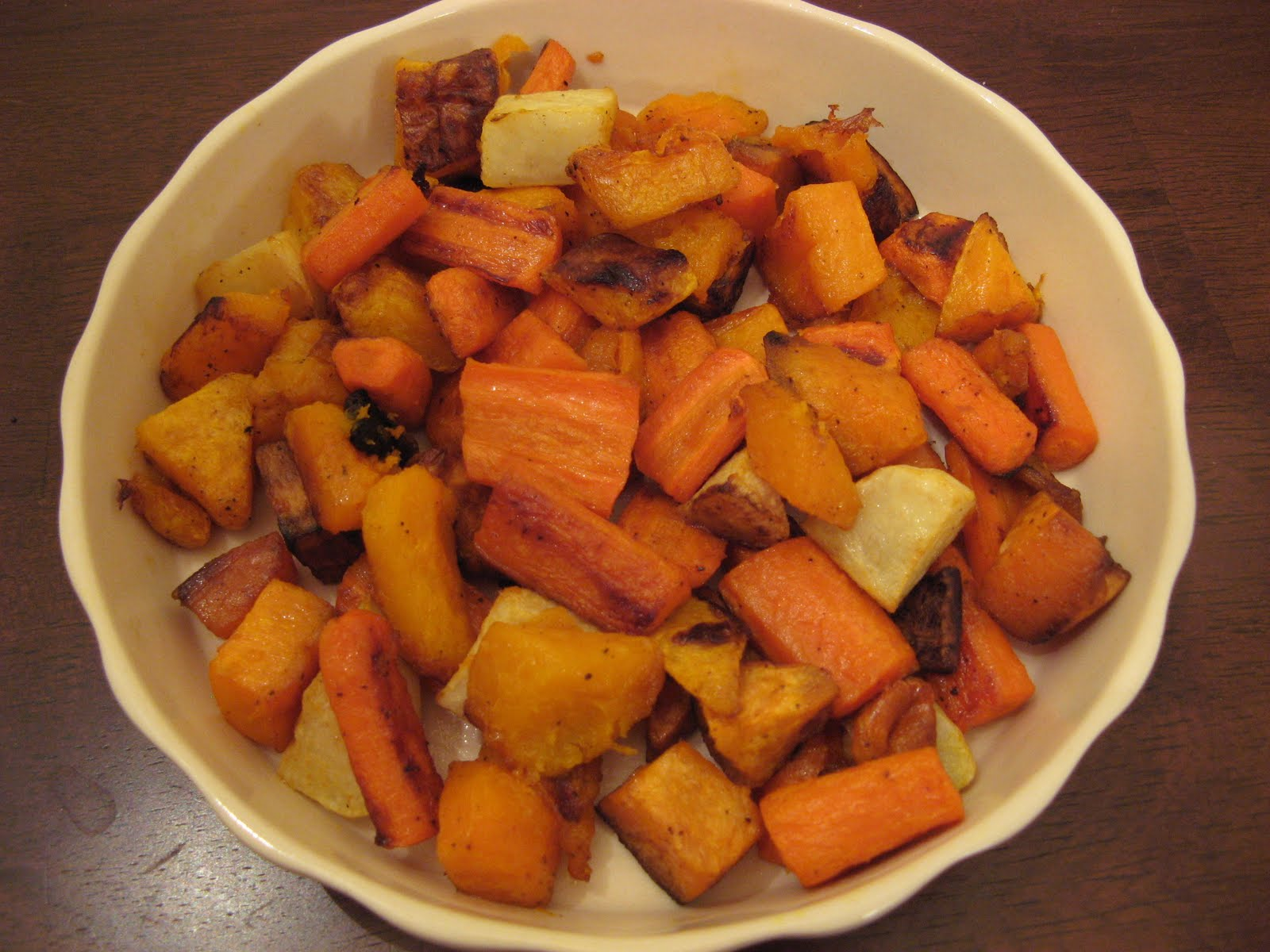 The Well-Fed Newlyweds: Roasted Root Vegetables and Winter Squash