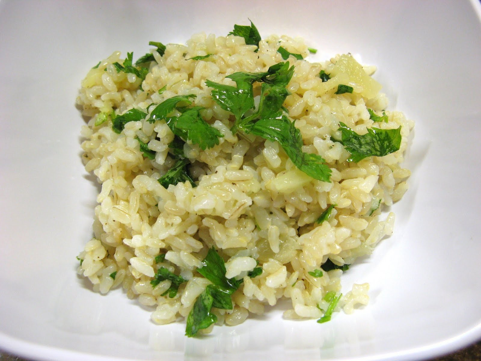 The Well-Fed Newlyweds: Lime-Cilantro Rice with Pineapple