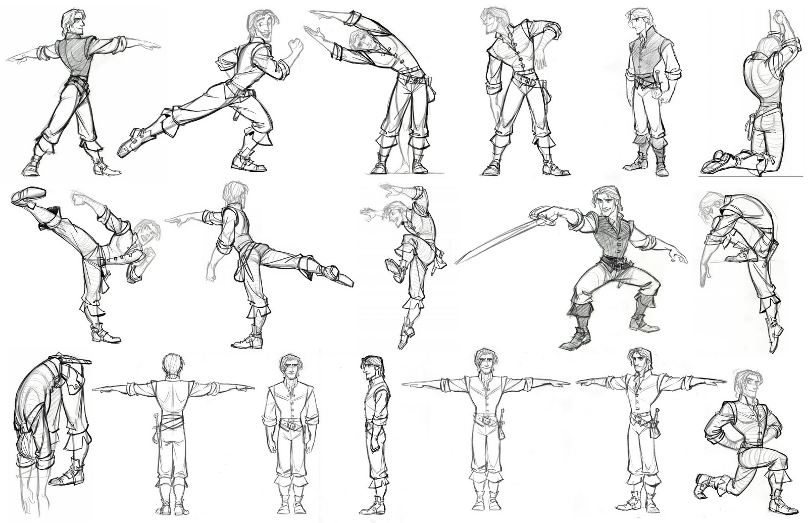 Disney Character Design Study : Character and creature design notes model sheets part