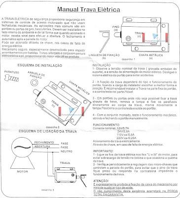 manual para Trava Elétrica para portão eletrônico basculante