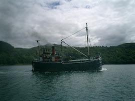 A Clyde Puffer in Loch Craignish