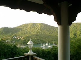 The view from Jans house St Lucia