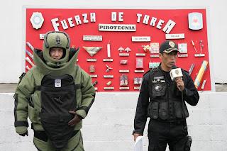especialistas del agrupamiento de fuerza de tarea de la policia del df