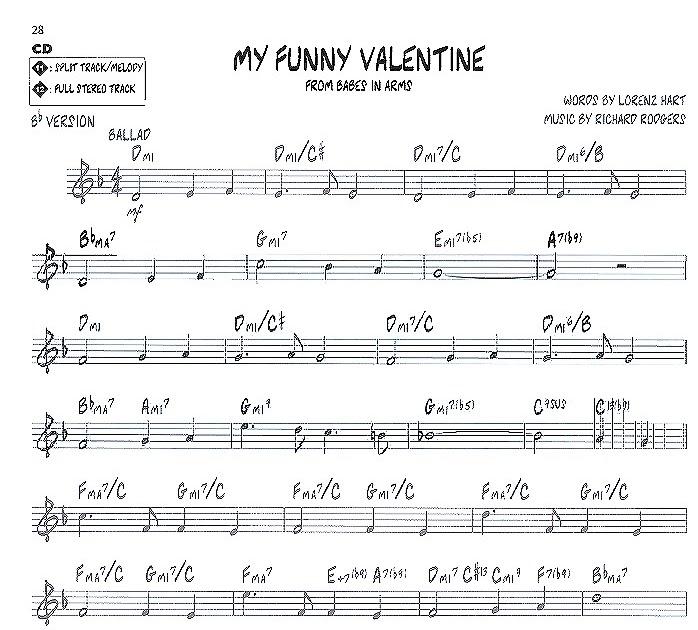 my funny valentine lead sheet pdf