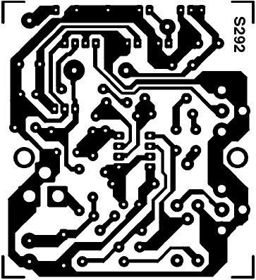 Dessin, à l'échelle 1, du circuit imprimé de l'émetteur TV 20 mW