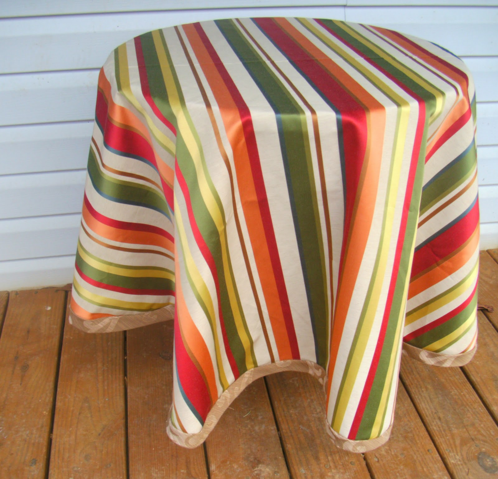 Etonnant DIY Round Tablecloth!