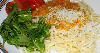 Menü 7: Spaghetti mit Kürbisbolognese