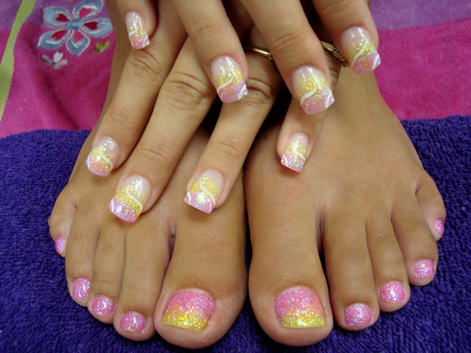 Glitter Toes Colors With Matching Glitter Toes